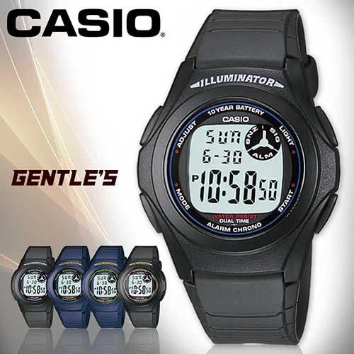 CASIO手錶專賣店 卡西歐 F-200W-1A 數字型 男錶 弧形鏡面 日常生活防水 LED照明 塑膠錶帶