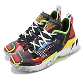 Nike 籃球鞋 Jordan Why Not Zer0.4 PF 黑 彩色 塗鴉鞋面設計 男鞋 運動鞋【ACS】 DD4888-006