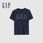 Gap男童 Logo翻轉亮片短袖T恤 682101-藏青色