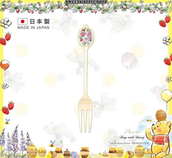 (現貨&樂園實拍)★日本製 ★ 東京迪士尼 x Afternoon tea 聯名限定 小熊維尼 小豬 叉子 /  蛋糕叉子