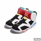 NIKE 童鞋 JORDAN 6 RETRO LITTLE FLEX TD 白藍 小童-CT4417103