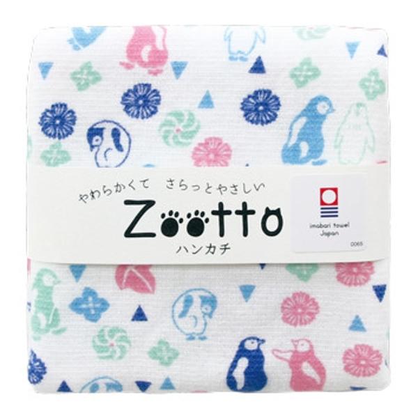 【日本製】【Zootto】今治毛巾 Imabari Towel 紗布 手帕 企鵝 SD-2161 - 日本製