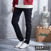 【JEEP】女裝 顯瘦直筒休閒卡其長褲 (黑色)