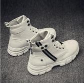 秋冬季馬丁靴男英倫風工裝鞋中幫短靴百搭加絨保暖高幫增高潮鞋子 KV3787 【野之旅】