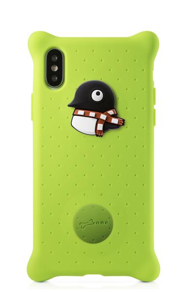 【BONE】IPhone X 泡泡保護套-企鵝小丸