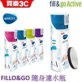 德國 BRITA Fill&Go 隨身濾水瓶 【瓶身內已含濾片X1】再送 BRITA專用提帶
