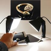 珠寶攝影臺 鉆石專用補光燈手機微距拍攝led拍照靜物臺小型攝影棚 熊貓本