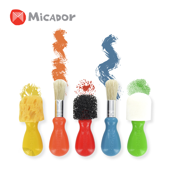 Micador 澳洲 小畫家工具組(內含 泡泡小畫筆x2、造型海綿刷x3)