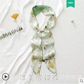 長條細窄小絲巾女夏季復古法式扎頭發帶編發絲帶綁包飄帶腰帶領帶 美眉新品
