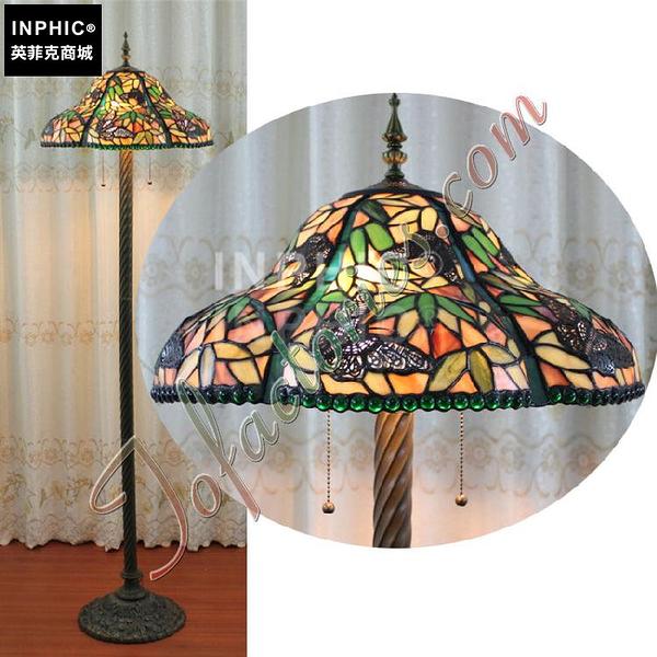 INPHIC-訂製蝴蝶清脆綠色竹林藝術落地燈彩色玻璃手工燈客廳燈飾臥室燈具_S2626C