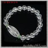 水晶天珠&天然水晶{晶鑽}手珠8mm【 十方佛教文物】