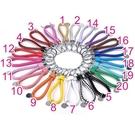 手工編織鑰匙扣 真皮鑰匙圈 20色 掛飾...