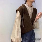 V領針織馬甲背心女韓版無袖慵懶風毛衣【毒家貨源】