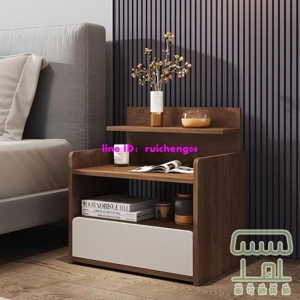 床頭櫃簡約置物架小型簡易臥室床邊儲物收納柜【樹可雜貨鋪】