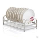 小鄧子304不銹鋼碗碟架洗碗架瀝水架廚房用品收納架子置物架1層放碗架