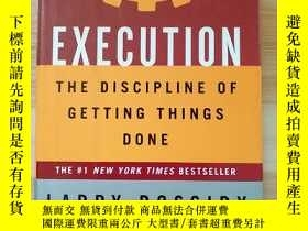二手書博民逛書店英文原版書罕見Execution: The Discipline of Getting Things Done H