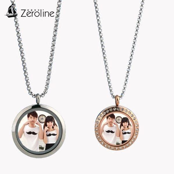 項鍊 日韓版照片相框項鍊男女個性時尚可放相片定制情侶吊墜掛件配飾品