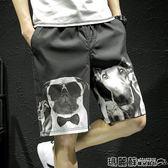 短褲 夏季休閒褲短褲男士大碼寬鬆沙灘運動褲五分褲韓版潮流男褲子 瑪麗蘇