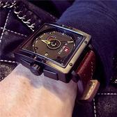 戶外手錶-男士大錶盤軍錶特種多功能男錶戶外皮帶手錶高檔防水方形手錶 東川崎町