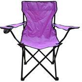 休閒扶手折疊椅-紫紅【愛買】