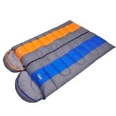 睡袋(單人)快速收納-信封式時尚拼色戶外露營登山用品3色71q14【時尚巴黎】