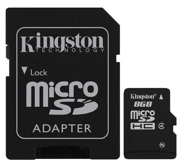 KINGSTON 8GB 8G microSDHC【C4】microSD SDHC SD TF C4 Class4 金士頓 手機記憶卡 micro