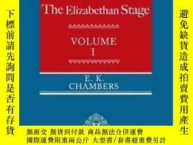 二手書博民逛書店The罕見Elizabethan Stage: Volume 1
