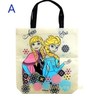 asdfkitty可愛家-迪士尼冰雪奇緣不織布手提袋/購物袋-A款-日本正版商品