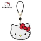 日本限定 三麗鷗 凱蒂貓 HELLO KITTY (I Love Hello Kitty) 45th 掛繩 伸縮票卡夾 / IC卡夾 / 悠遊卡夾