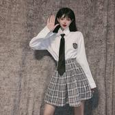 襯衫 領帶襯衣女長袖新款秋冬寬松設計感小眾職業裝上衣學院風襯衫