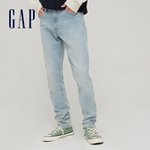 Gap男裝 淺色水洗中腰修身款牛仔褲 882352-水洗藍