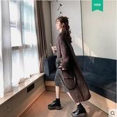 毛衣外套中長款開衫寬鬆外穿毛線衣女森系針織秋冬法式慵懶風過膝 夢幻衣都