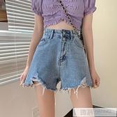 辣妹高腰牛仔短褲女夏季薄款2021新款網紅寬鬆顯瘦a字熱褲子潮ins 夏季新品