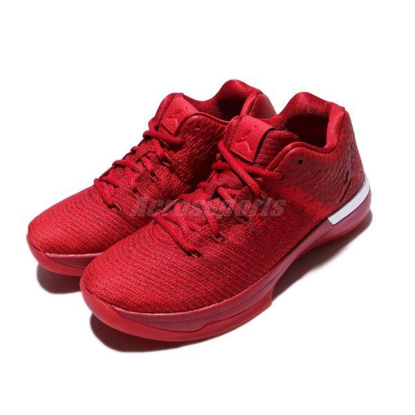 Nike 籃球鞋 Air Jordan XXXI Low BG 31 Gym Red 紅 全紅 皮革 低筒 女鞋 大童鞋【PUMP306】 897562-601
