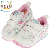 《布布童鞋》asics亞瑟士碎花粉小藍花寶寶機能學步鞋(13~15.5公分) [ J9M167M ]