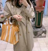 ⚡️新低價■ 專櫃65折■ Balenciaga 全新真品 Bazar Shopper S 黃及白色條紋羊皮兩用包