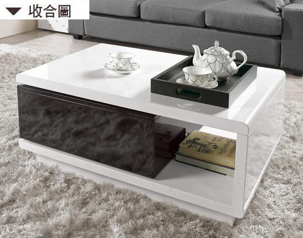 【森可家居】海納斯旋轉大茶几 7CM246-1