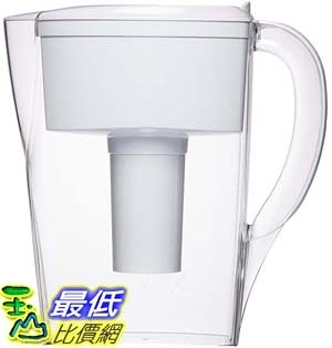 [106美國直購] Brita 6 Cup Space Saver BPA Free Water Pitcher with 1 Filter, White