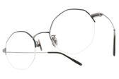 NINE ACCORD 光學眼鏡 TI LIVY C03 (霧墨綠-霧銀) 紳士造型半框款 平光鏡框 # 金橘眼鏡