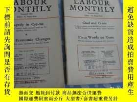 二手書博民逛書店LABOUR罕見MONTHLY 1958年第11-12共2期【月