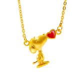 史努比SNOOPY-親親寶貝-黃金項鍊