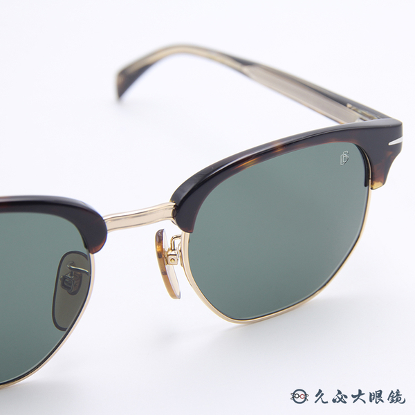 DB EYEWEAR 貝克漢設計品牌 DB1002S (琥珀) 眉框 太陽眼鏡 久必大眼鏡