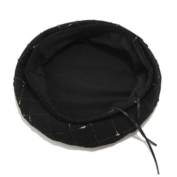 貝雷帽 格紋 平頂 南瓜帽 復古 縫線 畫家帽 英倫風 貝雷帽【YFMBLM40】 icoca  10/17