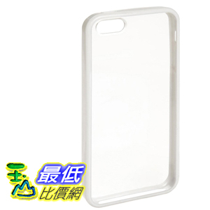 [106美國直購] AmazonBasics 手機殼 Clear Cover Case with Screen Protector for iPhone 5 (White Rim)