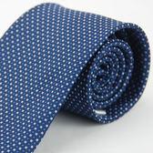 【Alpaca】白圓藍方領帶