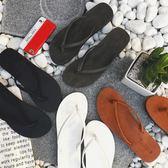 人字拖男防滑拖鞋沙灘情侶款耐磨潮流洗澡涼拖皮夾拖純色   名購居家