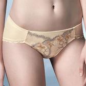 華歌爾-伊珊露絲Ribbon-Bra華麗刺繡蕾絲M-LL低腰三角褲(蝴蝶黃)ES2130-SC