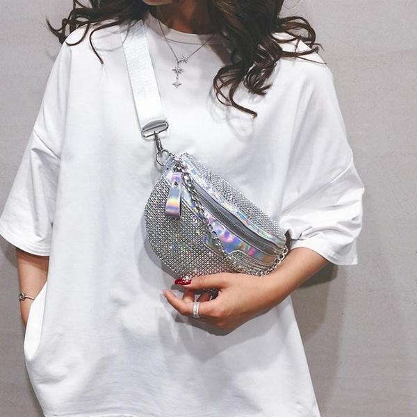 胸包 夏季小包包2020新款潮時尚流行亮鉆女包百搭斜背胸包網紅洋氣腰包 漫步雲端