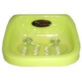 生活屋吸皿皂台-椰白/果綠【愛買】