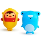 美國 munchkin 噴水洗澡玩具2入(可拆洗)-潛水員鯊魚【佳兒園婦幼館】